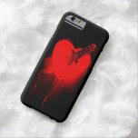 Corazón sangrante y cuchillo funda de iPhone 6 barely there
