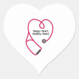 Corazón sano pegatina en forma de corazón