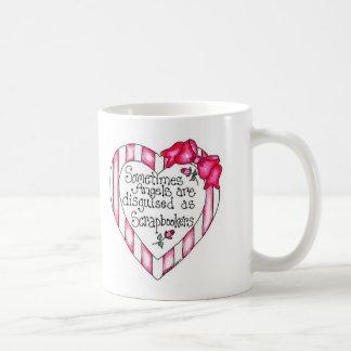 Corazón Scrapbooker del ángel Tazas De Café