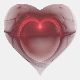 Corazón sedoso ligero que brilla intensamente pegatina corazón