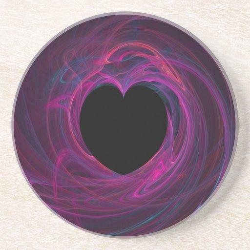 Corazón Series-3 del fractal--práctico de costa de Posavaso Para Bebida