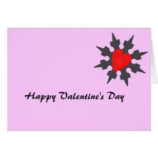 Corazón Shuriken de Ninja del Cupid Tarjeta De Felicitación