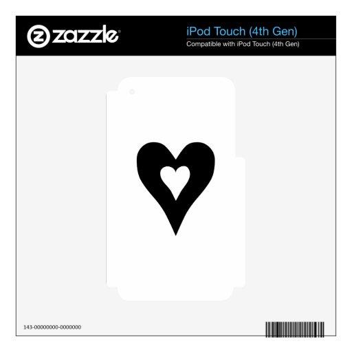 Corazón Skins Para iPod Touch 4G