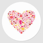 Corazón social de la red pegatinas