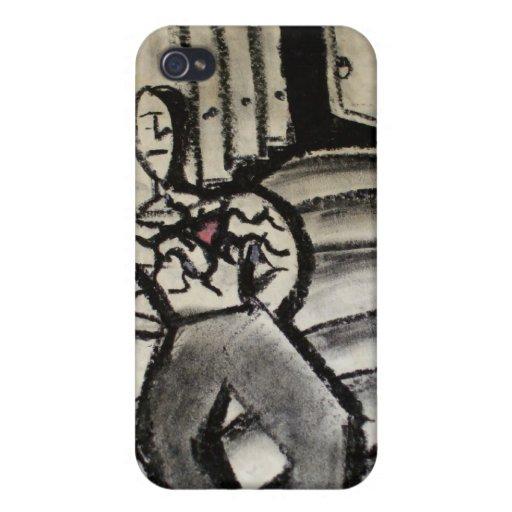 Corazón solo iPhone 4/4S carcasas