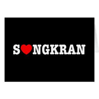 Corazón Songkran del ~ de S❤NGKRAN Tarjeta De Felicitación