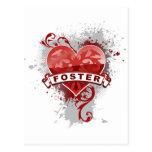 Corazón Stephen adoptivo Tarjetas Postales