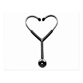 Corazón Stethescope Tarjeta Postal