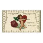 Corazón subió Cupid del ángel del Victorian de la  Plantilla De Tarjeta De Negocio