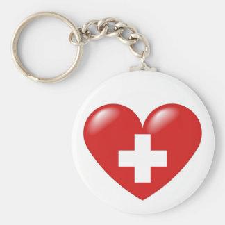 Corazón suizo - suisse de Schweizer Herz - de Coeu Llaveros Personalizados