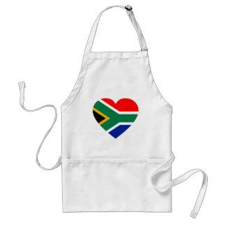 Corazón surafricano de la bandera delantales