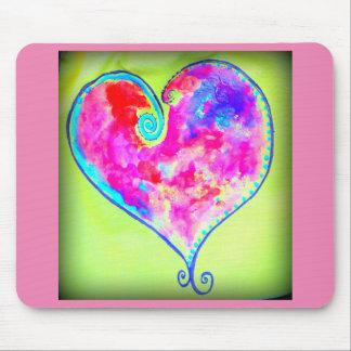 corazón swirly rosado alfombrilla de raton
