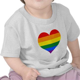 Corazón T-Shir del orgullo de LGBT Camisetas