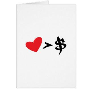 corazón t tarjeta de felicitación