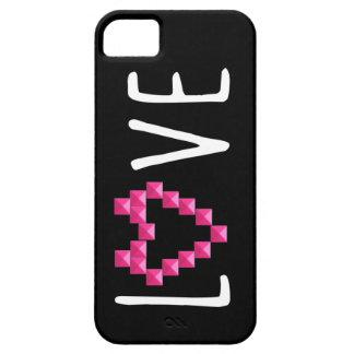 Corazón tachonado amor iPhone 5 Case-Mate protector