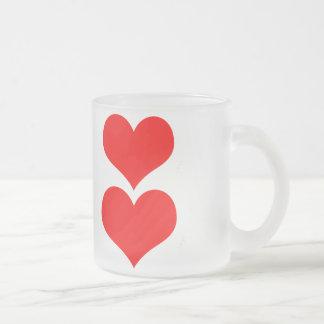Corazón Taza Cristal Mate