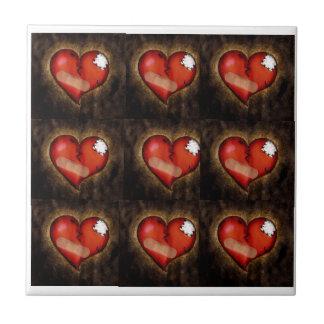 Corazón-teja del corazón quebrado/de la reparación azulejo cuadrado pequeño