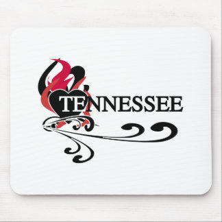 Corazón Tennessee del fuego Tapetes De Ratón