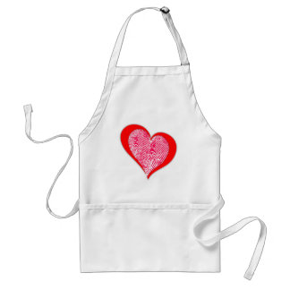 Corazón Thumbprint Delantal
