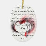 Corazón tribal con el soneto 18 de Shakespeare Ornamento De Reyes Magos