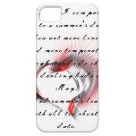 Corazón tribal con el soneto 18 de Shakespeare iPhone 5 Cárcasas