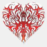 Corazón tribal de la tarjeta del día de San Calcomanías De Corazones