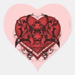Corazón tribal del rojo del Flourish del gótico Calcomanía De Corazón