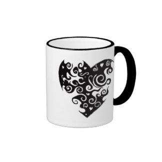 corazón tribal taza de café