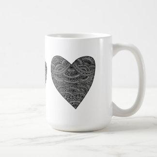 Corazón tribal taza