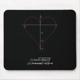 Corazón trigonométrico mouse pads