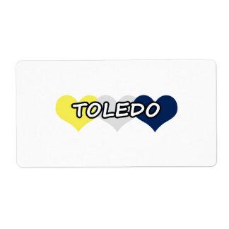 Corazón triple de Toledo Etiqueta De Envío