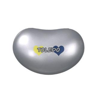 Corazón triple de Toledo Jarrones De Dulces