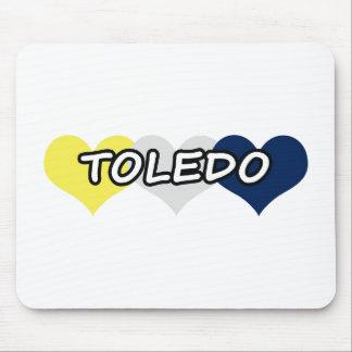 Corazón triple de Toledo Tapetes De Raton