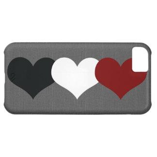 Corazón triple funda para iPhone 5C