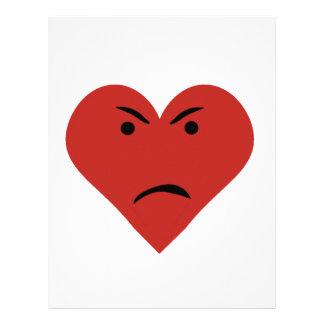 Corazón triste plantilla de membrete