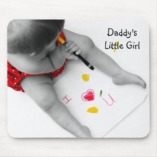 Corazón U del papá I de la niña de Daddys te amo Mouse Pads