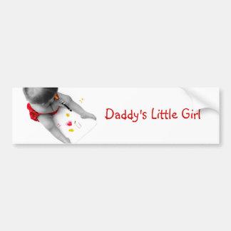 Corazón U del papá I de la niña de Daddys te amo Pegatina Para Auto