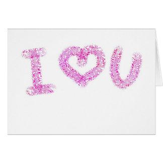 Corazón U del rosa I de la tarjeta del el día de