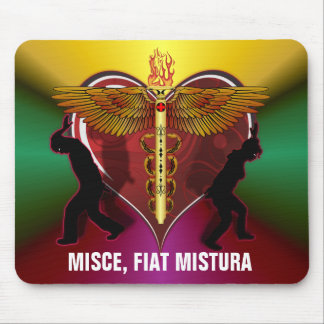Corazón V-1, MISCE, FIAT MISTURA del caduceo Alfombrilla De Ratones