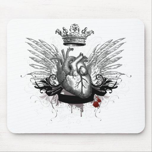 Corazón valiente alfombrillas de ratones