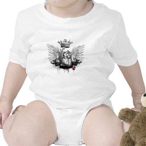 Corazón valiente trajes de bebé