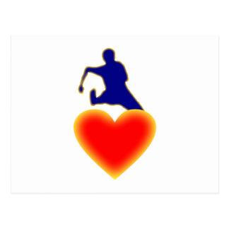 Corazón valla heart hurdle postal