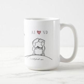 """""""Corazón VD del AI """" Tazas De Café"""