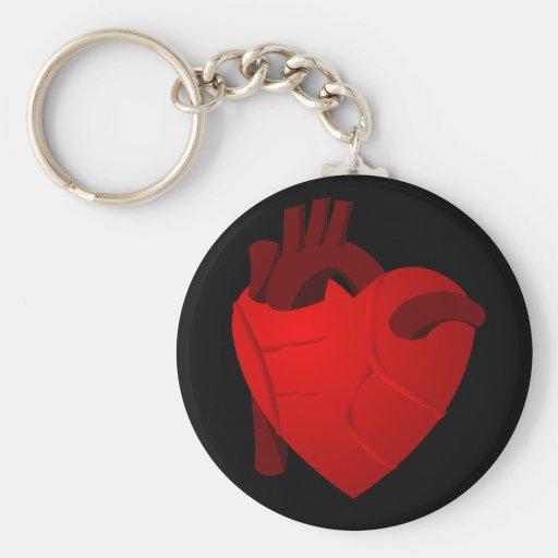 Corazón verdadero llavero redondo tipo pin
