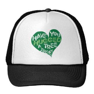 Corazón verde (abrace un árbol) gorros