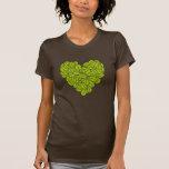 Corazón verde camisetas