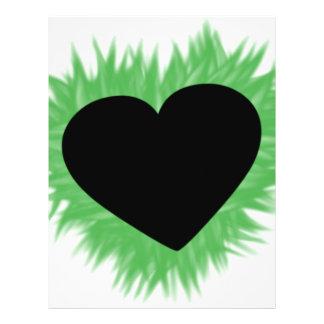 """Corazón verde de la llama folleto 8.5"""" x 11"""""""