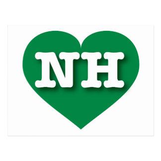 Corazón verde de New Hampshire NH Tarjetas Postales