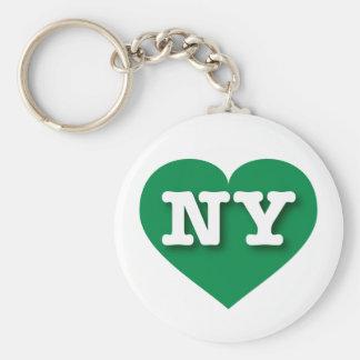 Corazón verde de Nueva York NY Llavero