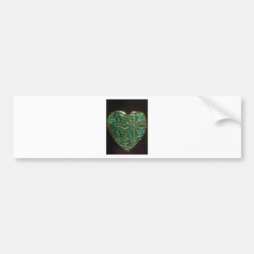 Corazón verde del amor pegatina de parachoque